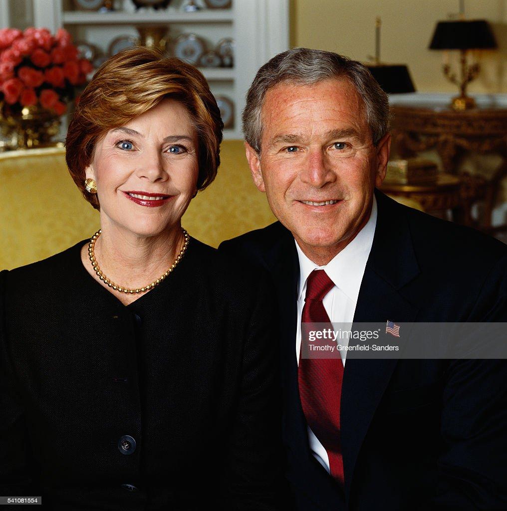 George W. and Laura Bush, 2004 : News Photo