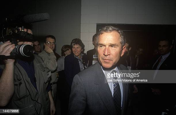 George W Bush at the New Hampshire Presidential Candidates Youth Forum January 2000