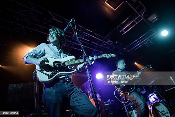 George Waite and Daniel Hopewell of The Crookes perform on stage at The Liquid Room on November 7 2015 in Edinburgh Scotland