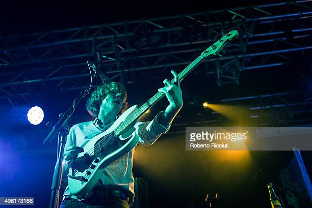 George Waite of The Crookes performs on stage at The Liquid Room on November 7 2015 in Edinburgh Scotland