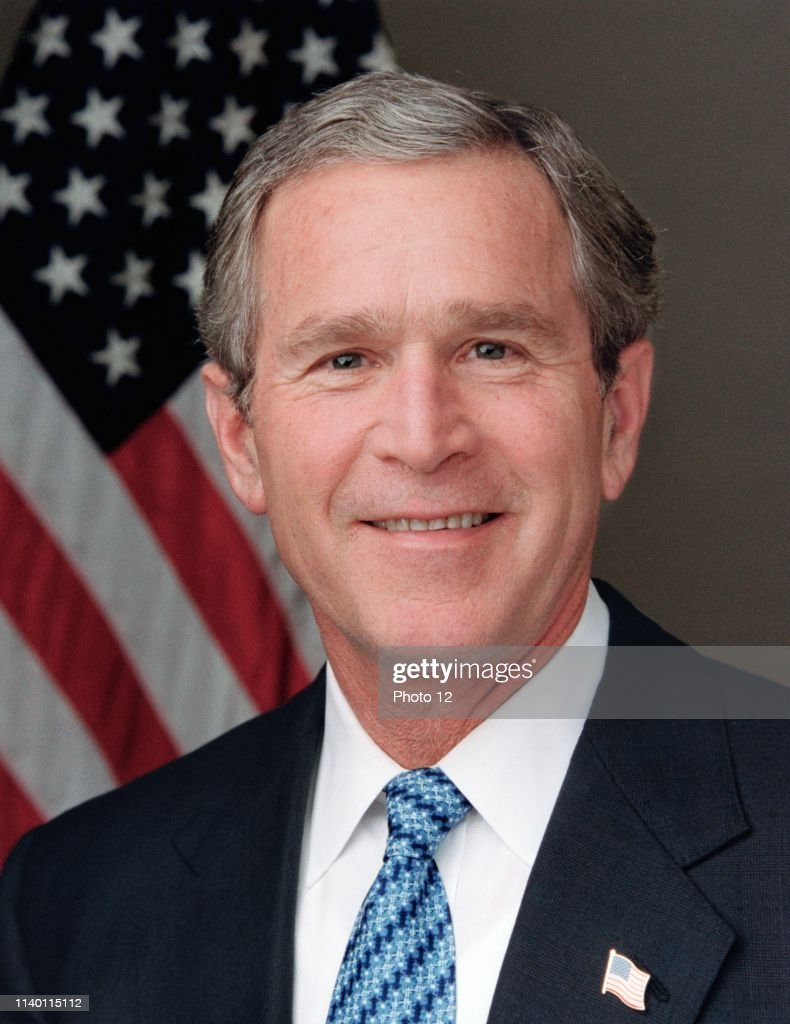 George Walker Bush. : News Photo