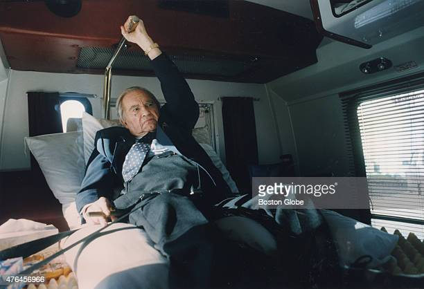 George Wallace the former governor of Alabama rides in a special van in Montgomery Ala December 1993 Traveling is difficult and painful for Wallace...