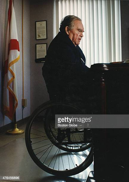 George Wallace the former governor of Alabama sits at his desk on the fourth floor of Bartlett Hall part of the Troy StateMontgomery campus in...