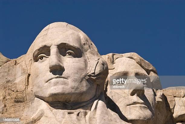 George Washingto and Thomas Jefferson on Mount Rushmore, South D