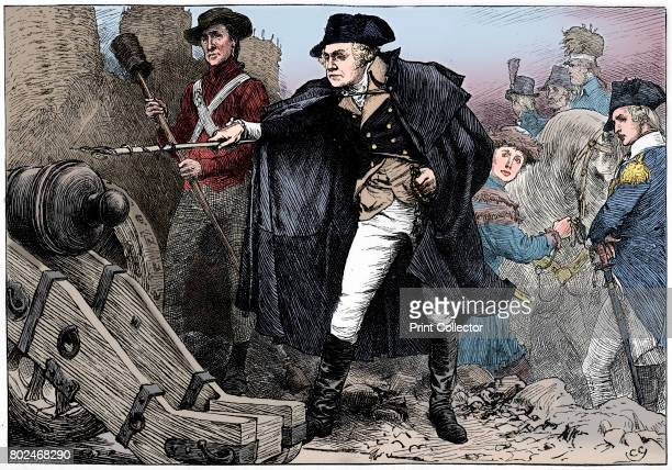 George Washington at the siege of Yorktown Virginia 1781 The Defeat of the British at Yorktown proved decisive in the American Revolutionary War It...