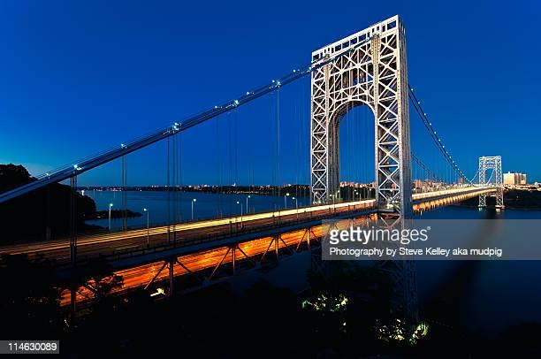 george washington bridge, new york city - george washington bridge stock pictures, royalty-free photos & images