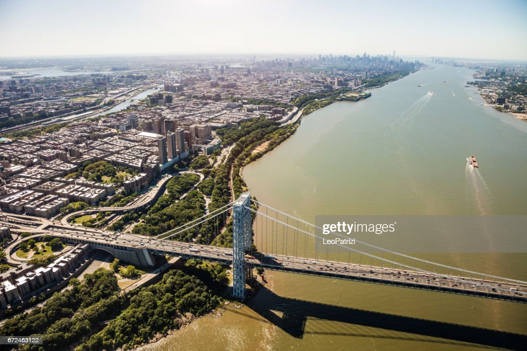 George Washington Bridge, New York City : Stock Photo