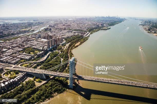 George Washington Bridge, a la ciudad de Nueva York