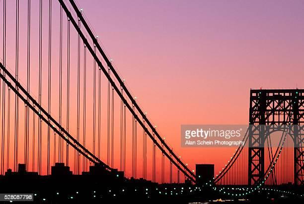 george washington bridge, nyc - george washington bridge stock pictures, royalty-free photos & images