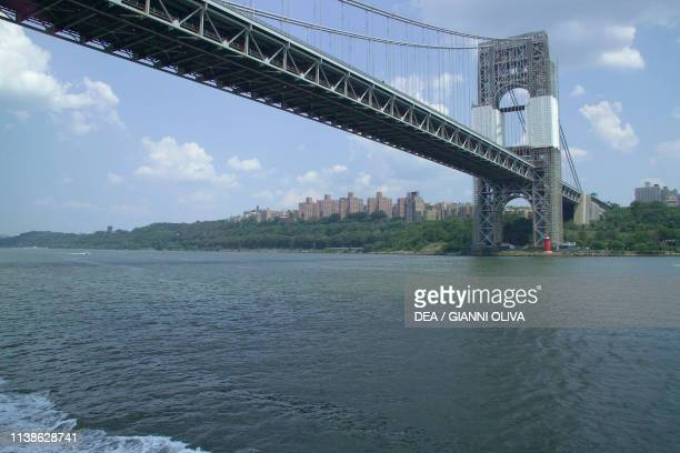 George Washington Bridge on the Hudson River between Manhattan and New Jersey by Othmar Ammann and Cass Gilbert New York City United States of...