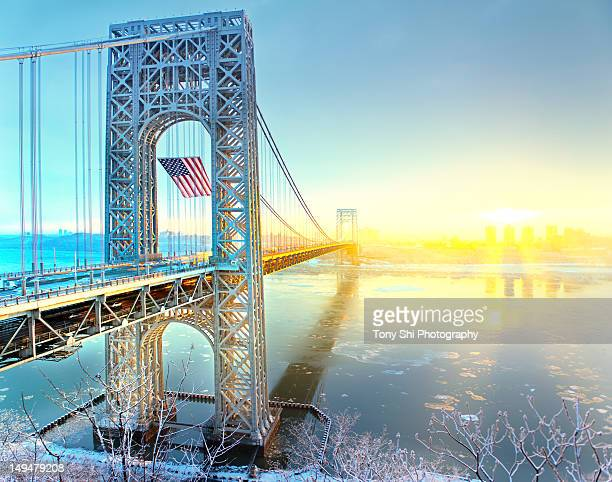 george washington bridge - new jersey bildbanksfoton och bilder