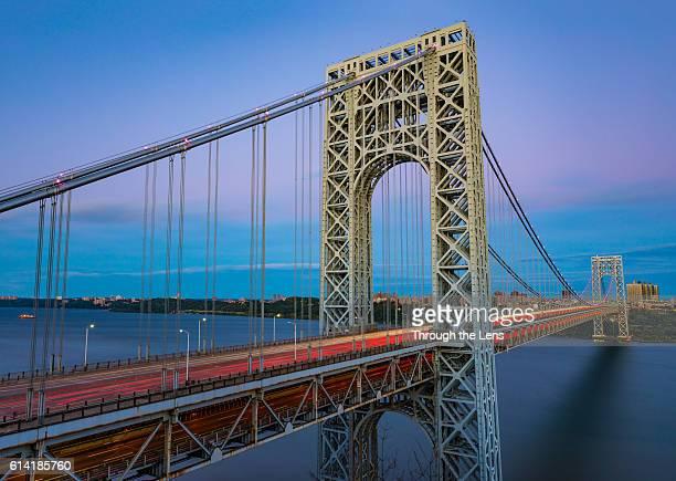 george washington bridge - port authority stock pictures, royalty-free photos & images