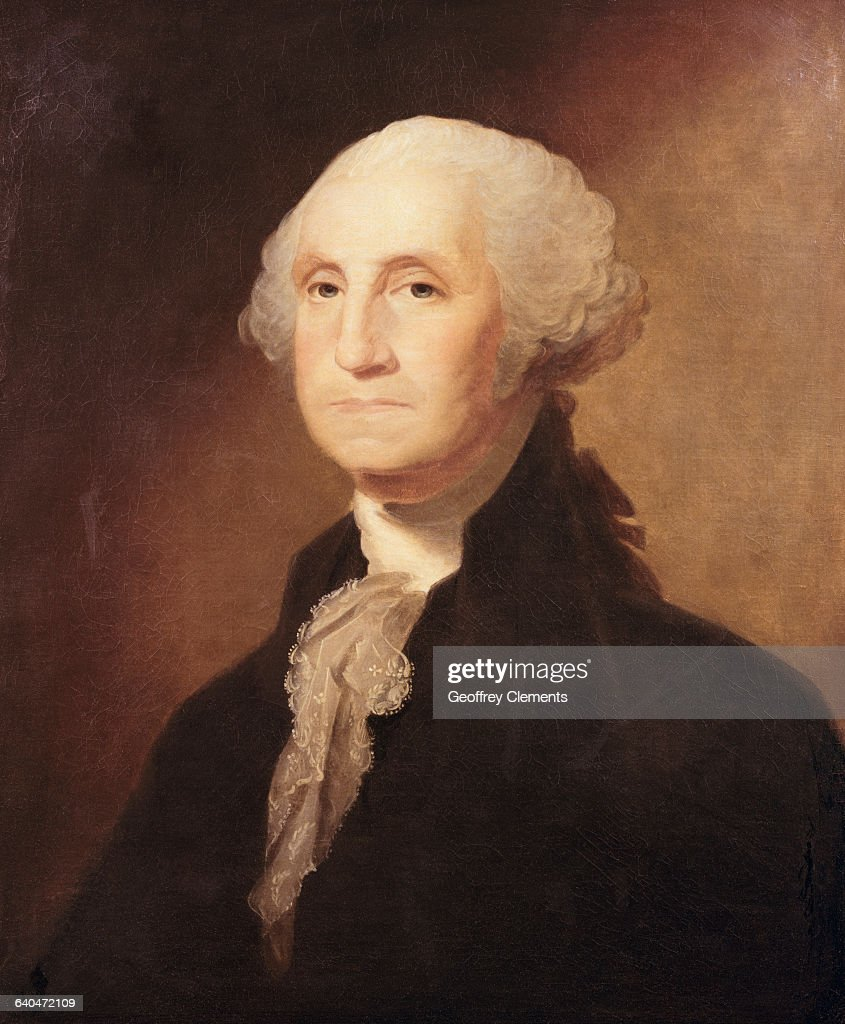 George Washington by Gilbert Charles Stuart : News Photo