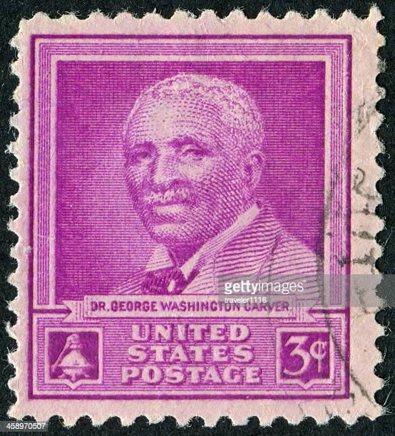 george washington carver stamp - george washington carver stock pictures, royalty-free photos & images
