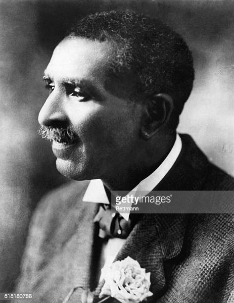George Washington Carver with a rose in jacket lapel