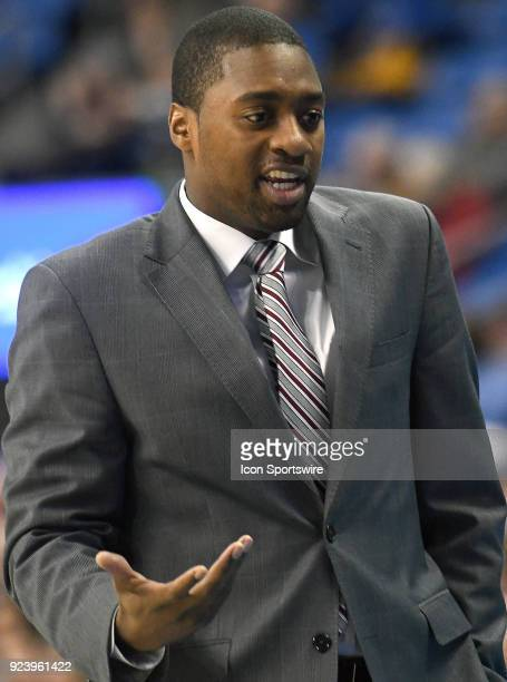 George Washington Coach Maurice Joseph during an Atlantic 10 Conference basketball game between the George Washington Colonials and the Saint Louis...