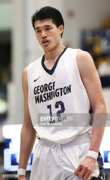 George Washington Colonials guard Yuta Watanabe at the free throw line during a men's college basketball game between the George Washington Colonials...