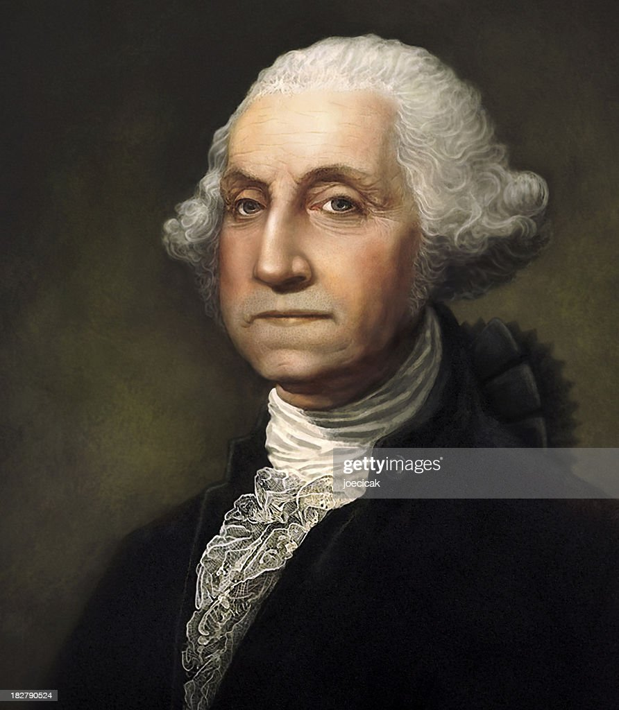 George Washington Digitally Generated Portrait : Stock Photo