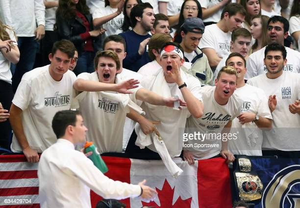 George Washington fans shout at VCU coach Will Wade during an Atlantic 10 men's basketball game on February 08 at the Charles E Smith Center in...