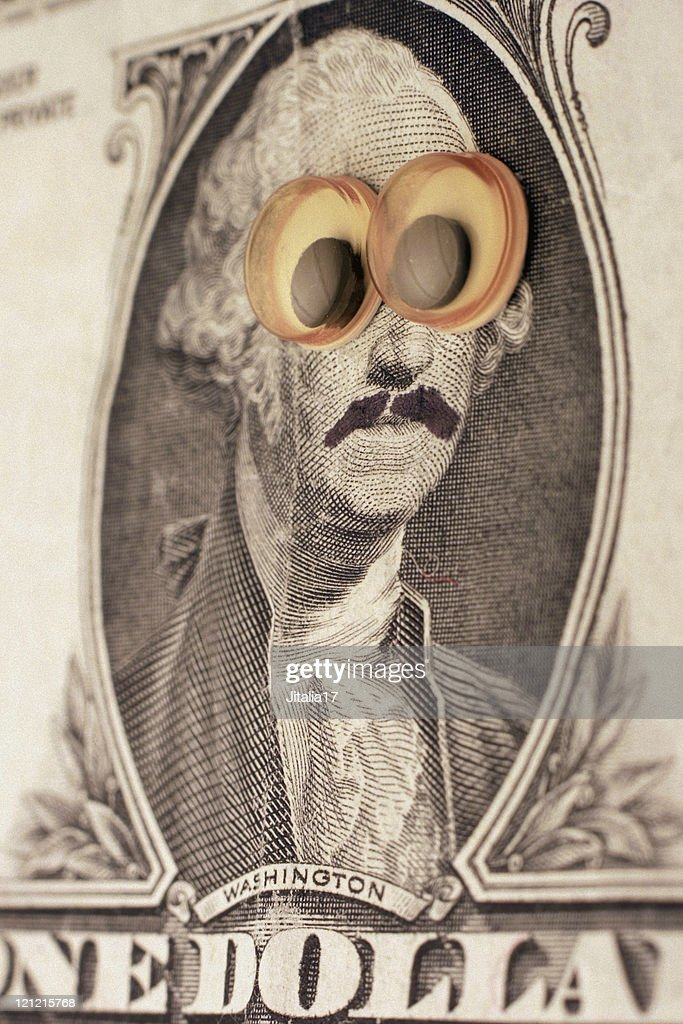 George Washington in Disguise : Stock Photo