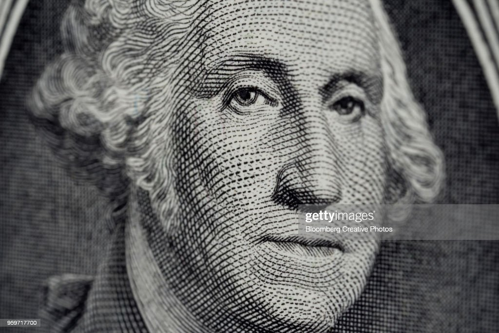 George Washington is displayed on a U.S. dollar bill : Stock-Foto