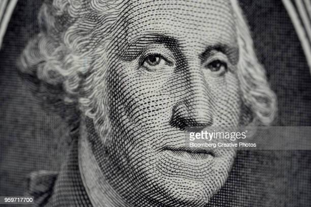 George Washington is displayed on a U.S. dollar bill