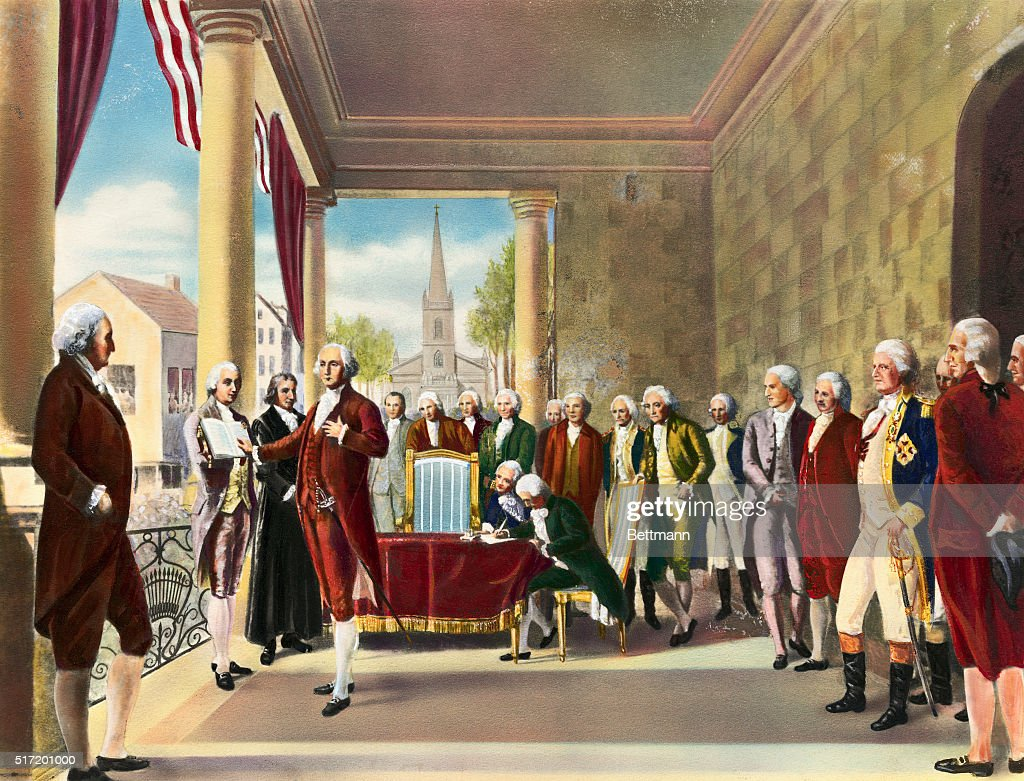 Illustration of George Washington Taking Oath of Office Pictures ...