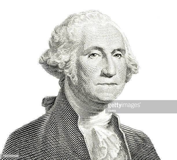 george washington isolated - president stockfoto's en -beelden