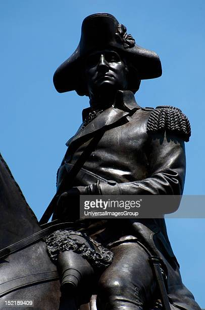 George Washington , Militar and american politician, First President of the United States , Monument in Boston Common Parks, Boston, Massachusetts,...