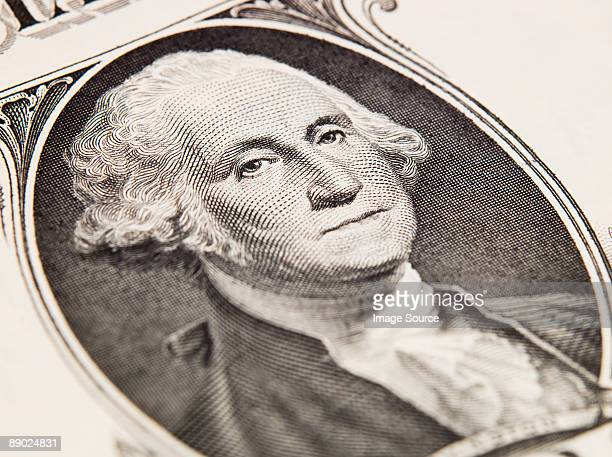 george washington on dollar bill - one dollar bill stock pictures, royalty-free photos & images