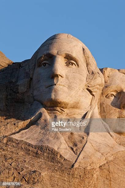 George Washington on Mount Rushmore Memorial by Gutzon Borglum