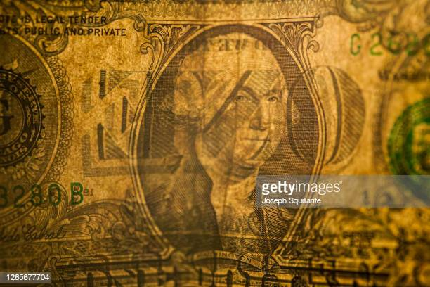 george washington on united states one dollar bill - joseph squillante stock pictures, royalty-free photos & images