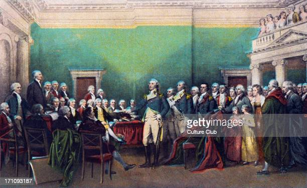 George Washington painting of the resignation of the 1st president of America in Annapolis on December 23rd 1783 17321799
