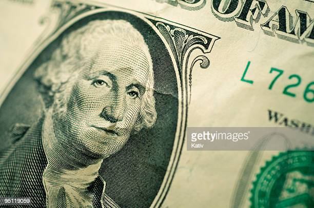 george washington - american one dollar bill stock pictures, royalty-free photos & images