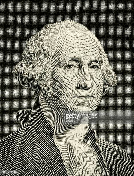 george washington portrait - american one dollar bill stock pictures, royalty-free photos & images