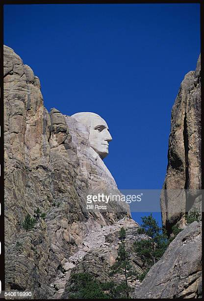 George Washington Sculpture on Mount Rushmore National Monument