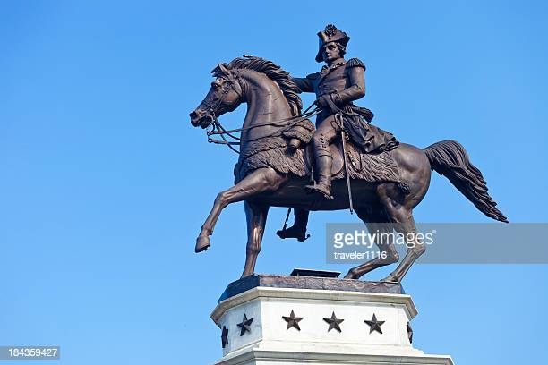 george washington statue in richmond, virginia - george washington stock pictures, royalty-free photos & images