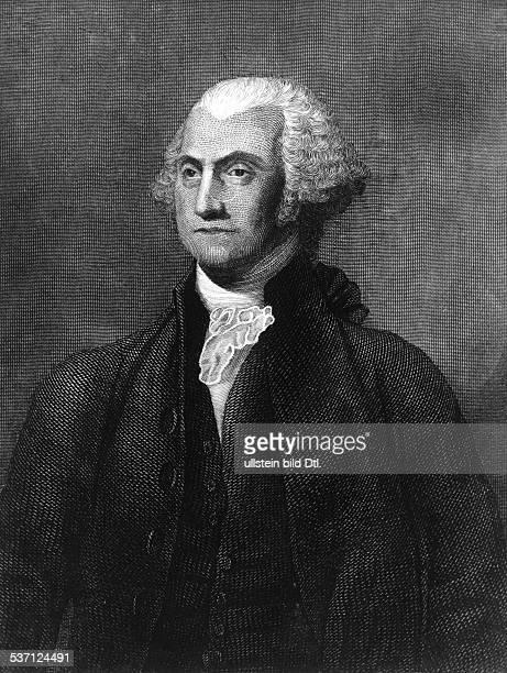 George WashingtonGeorge Washington Politiker USA 1 Präsident der USA 17891797 Porträt undatiert Stich nach einem Gemälde im Capitol