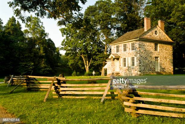 george washington's headquarters at valley forge national historic park - valley forge washington stock pictures, royalty-free photos & images