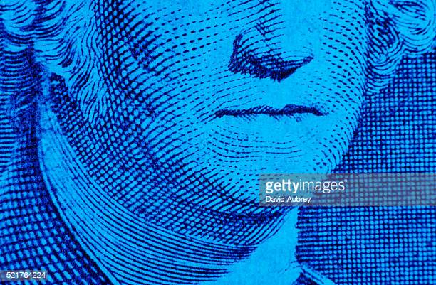 george washington's mouth on dollar bill - capitalism stock pictures, royalty-free photos & images