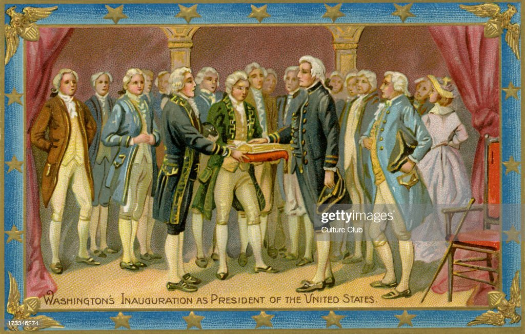 George Washington's presidential inauguration : News Photo