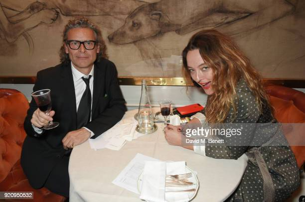 George Waud and Alice Temperley attend the LOVE x Miu Miu Women's Tales dinner hosted by Katie Grand and Elle Fanning at Loulou's on February 19 2018...
