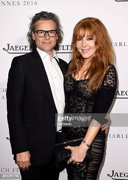 George Waud and Charlotte Tilbury attend as Charles Finch hosts the 8th Annual Filmmakers Dinner with JaegerLeCoultre at Hotel du CapEdenRoc on May...