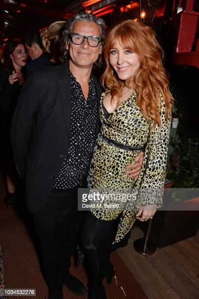 George Waud and Charlotte Tilbury attend as Edward Enninful David Beckham and British Vogue celebrate the 10th anniversary of Victoria Beckham at...