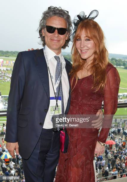 George Waud and Charlotte Tilbury attend Ladies Day of the 2017 Investec Derby Festival at The Jockey Club's Epsom Downs Racecourse at Epsom...