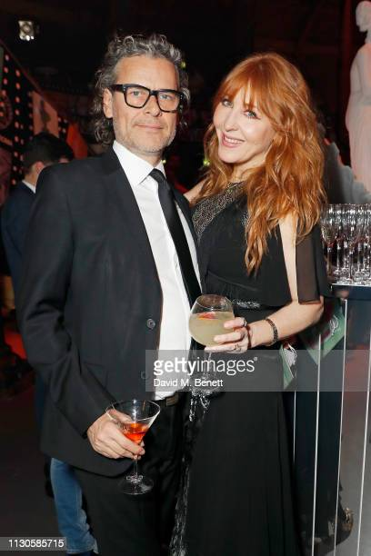 George Waud and Charlotte Tilbury attend Naked Heart Foundation's Fund Fair with LuisaViaRoma at The Roundhouse on February 18 2019 in London England