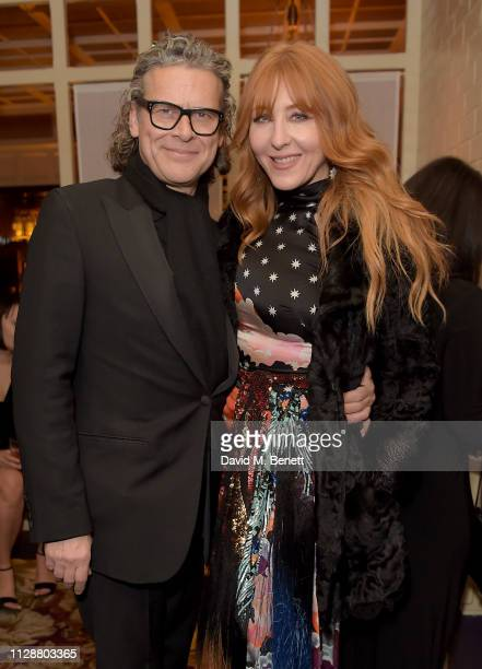George Waud and Charlotte Tilbury attend the Netflix 2019 BAFTA AWARDS After Party at Chiltern Firehouse on February 10 2019 in London England