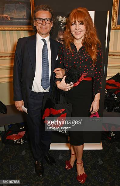 George Waud and Charlotte Tilbury attend the People Places Things Charity Gala in aid of Action On Addiction at Wyndhams Theatre on June 14 2016 in...