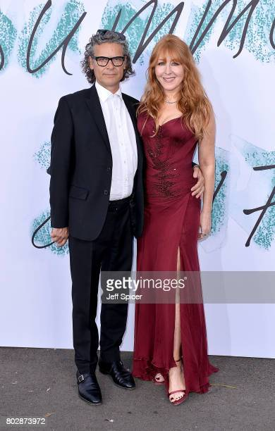 George Waud and Charlotte Tilbury attend The Serpentine Galleries Summer Party at The Serpentine Gallery on June 28 2017 in London England