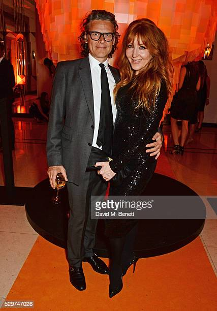 George Waud and Charlotte Tilbury attend the Veuve Clicquot Business Woman Award at The Ballroom of Claridge's on May 9 2016 in London Englan